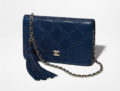 Chanel Stitched Quiled WOC with Tassel
