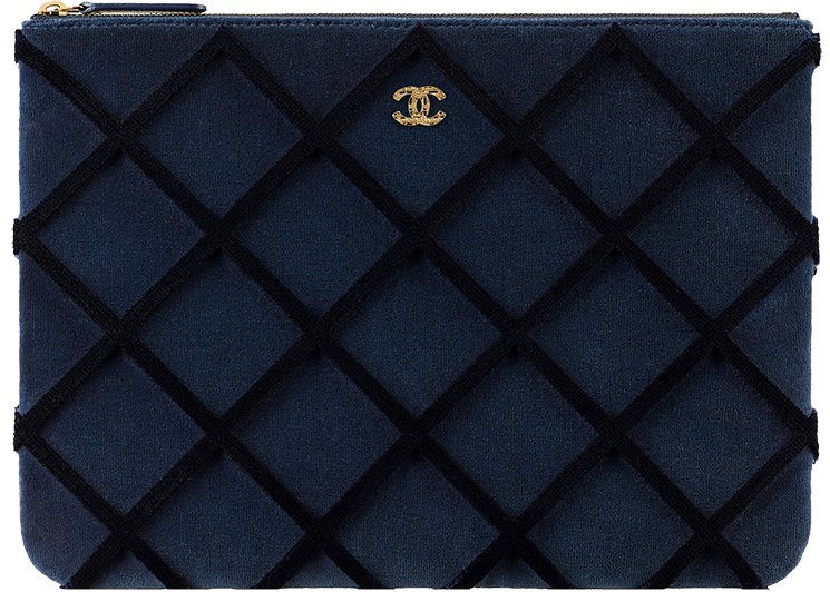 Chanel-Velvet-Quilted-Pouches