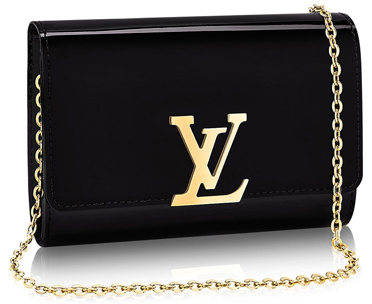 Louis-Vuitton-Vernis-Lisse-Louise-Clutch-with-Chain-2