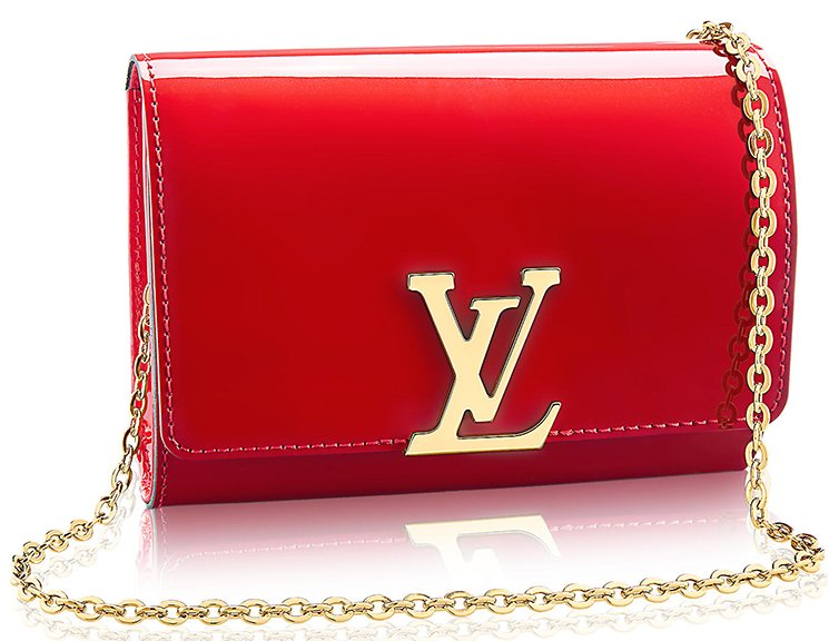 ced08fa077 Louis Vuitton Vernis Lisse Louise Clutch with Chain | Bragmybag