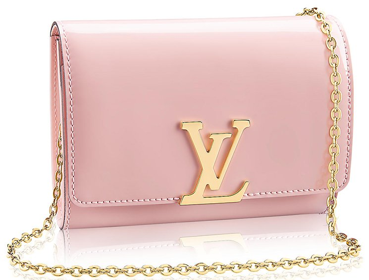 Louis-Vuitton-Vernis-Lisse-Louise-Clutch-with-Chain