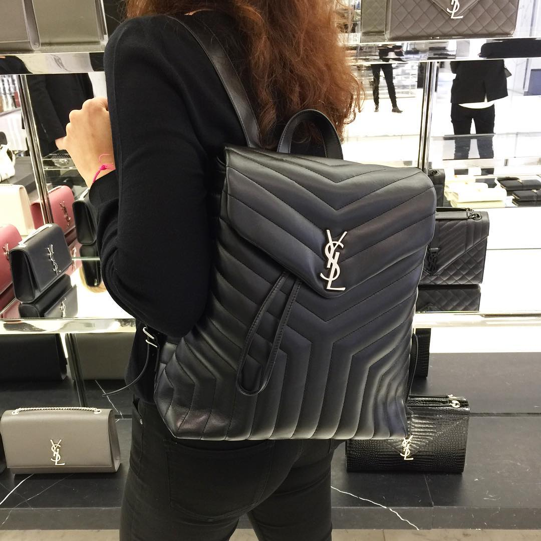 Saint Laurent Y Quilted Loulou Backpacks Bragmybag