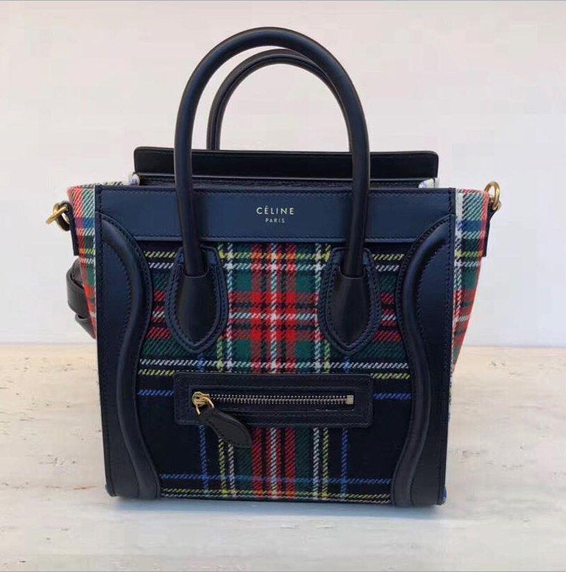 Celine-Tartan-Luggage-Bag