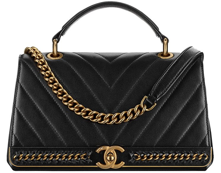 Chanel-Chevron-Chain-Stitched-Top-Handle-Flap-Bag-2