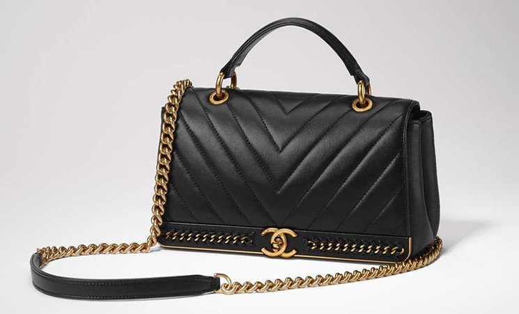 Chanel-Chevron-Chain-Stitched-Top-Handle-Flap-Bag-3