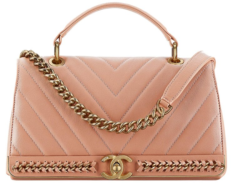 Chanel-Chevron-Chain-Stitched-Top-Handle-Flap-Bag-4