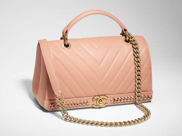 Chanel-Chevron-Chain-Stitched-Top-Handle-Flap-Bag-5