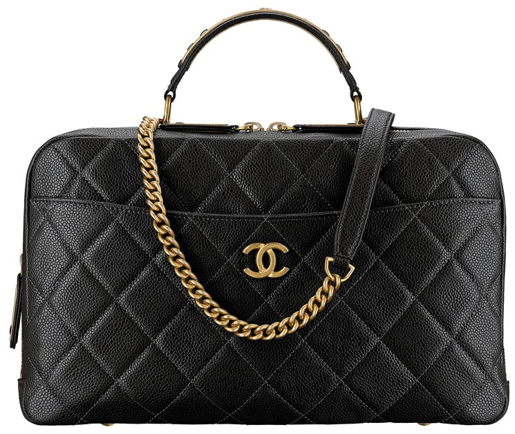 Chanel-Grained-Calfskin-Bowling-Bag-30