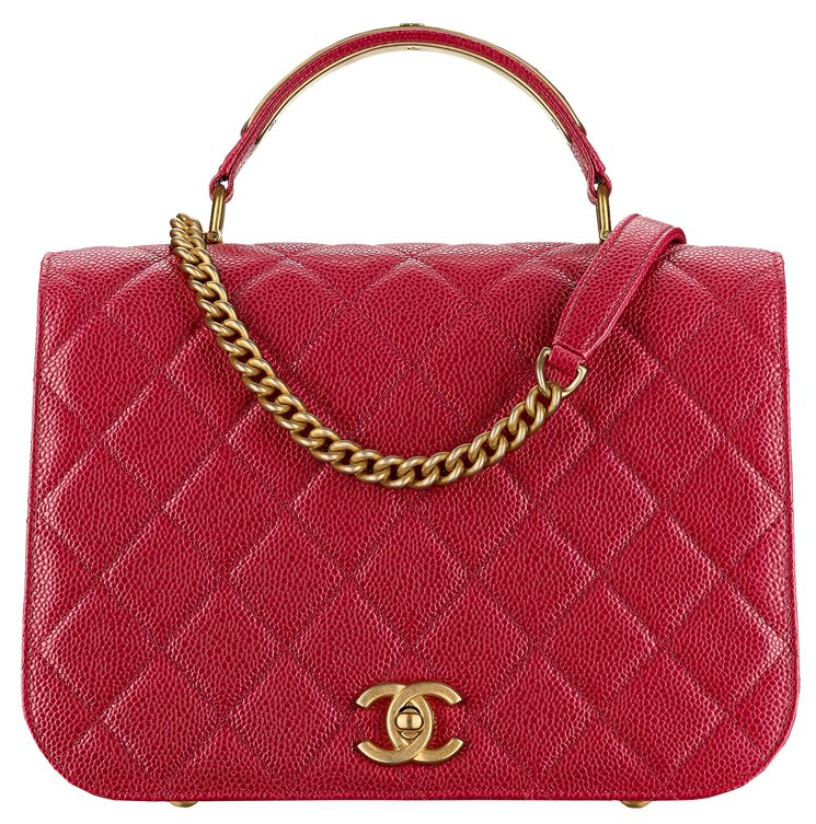 Chanel-Grained-Calfskin-Flap-Bag-with-Top-Handle-37