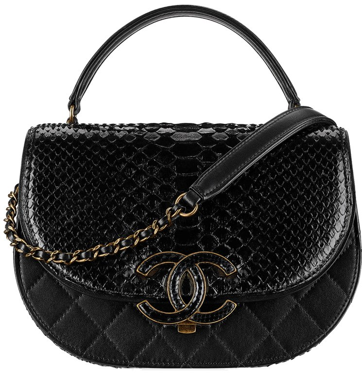 Chanel-Large-Round-Python-Flap-Bag-7