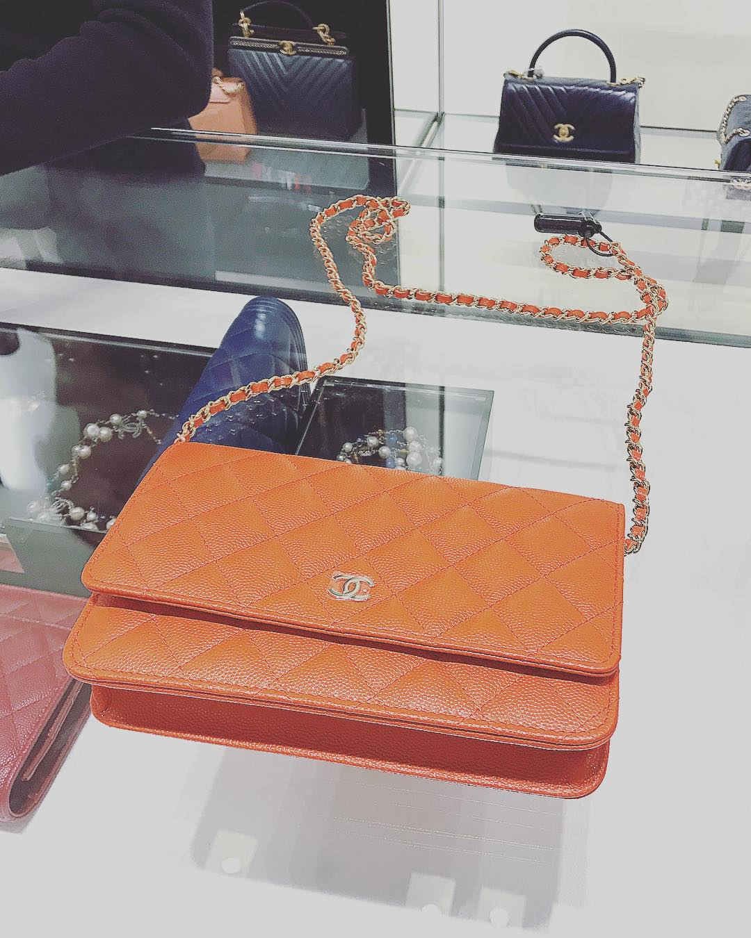 Chanel-Orange-Classic-Quilted-WOC