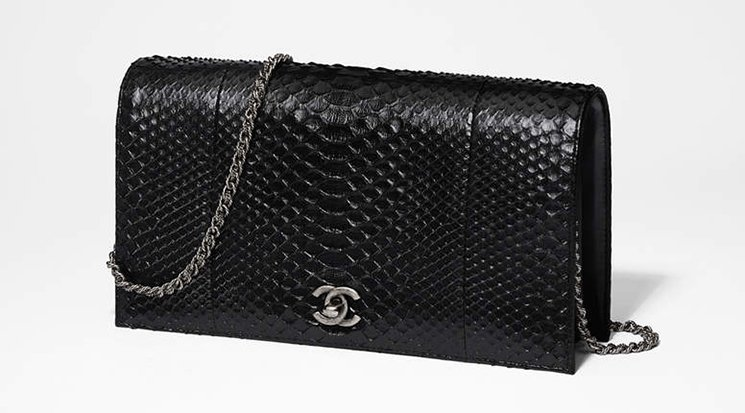 Chanel-Python-Clutch-With-Chain-2