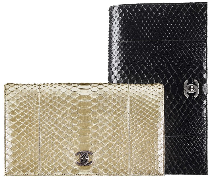 Chanel-Python-Clutch-With-Chain