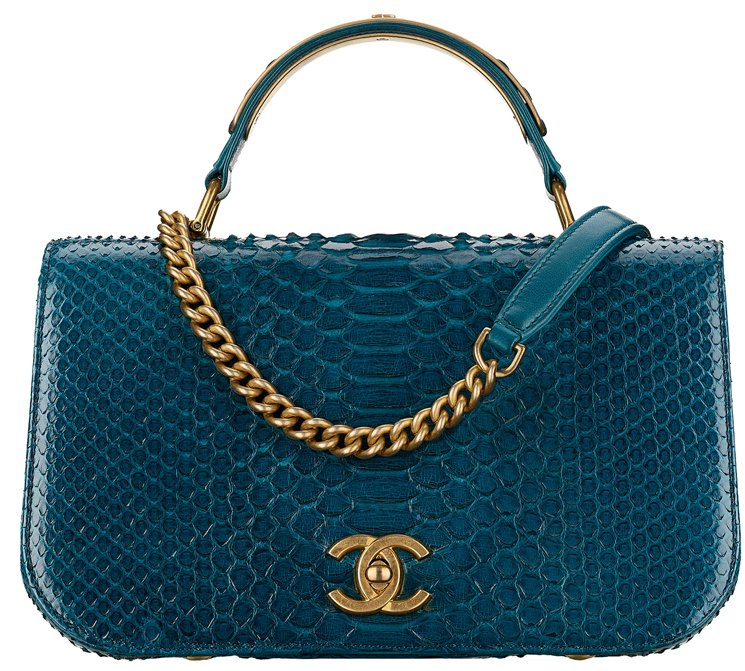 Chanel-Python-Round-Flap-Bag-with-Top-Handle-35