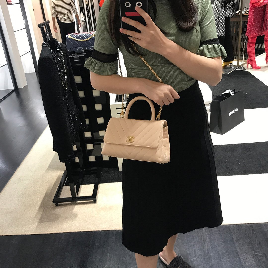 e2c1eeb91906 Chanel-Reversed-Chevron-Coco-Handle-Bag-3. Instagram   myanmar personalshopper