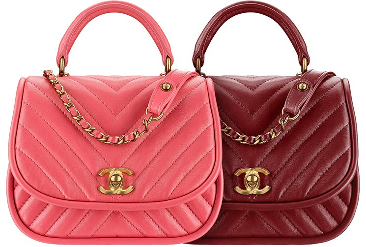 Chanel-Reversed-Chevron-Round-Flap-Bag-3
