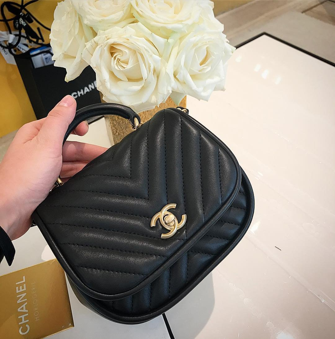 Chanel-Reversed-Chevron-Round-Flap-Bag