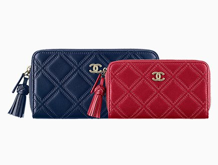 c1481c667d9d4c Chanel Stitched Quilted Zip Around Wallets With Tassel | Bragmybag