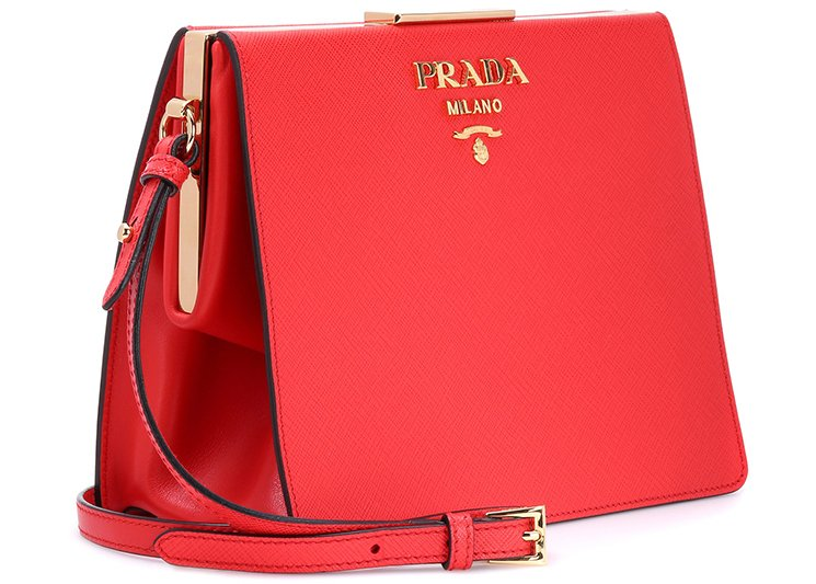 Light Frame leather shoulder bag Prada s5gbpu