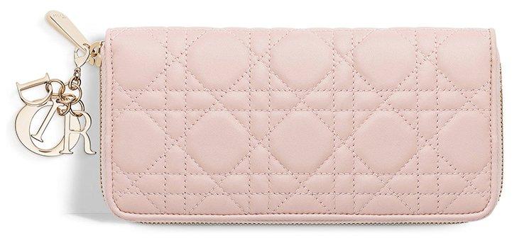 Lady-Dior-Pink-Voyageur-Wallet