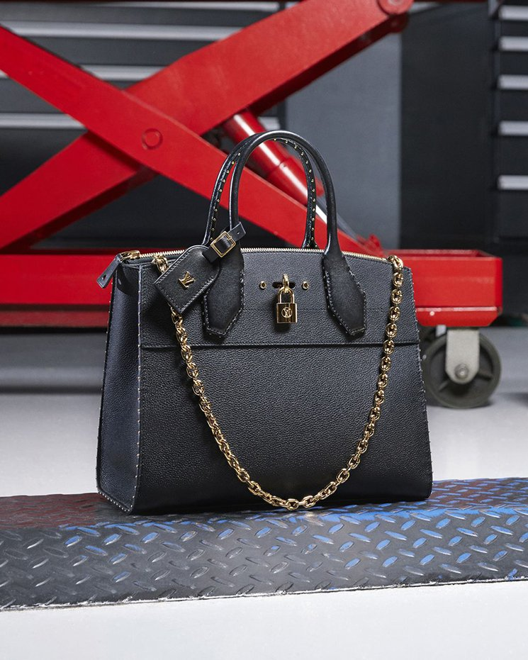 louis vuitton bags 2017 black. louis vuitton city steamer bag with bright chain bags 2017 black