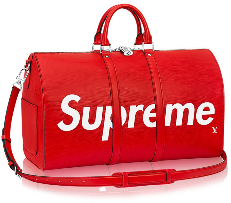 Louis-Vuitton-Supreme KeepAll Bandoulière 45 2