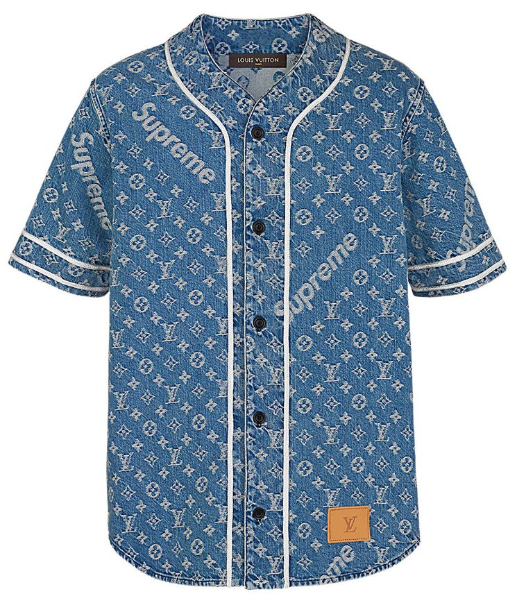 louis-vuitton-DENIM BASEBALL SHIRT