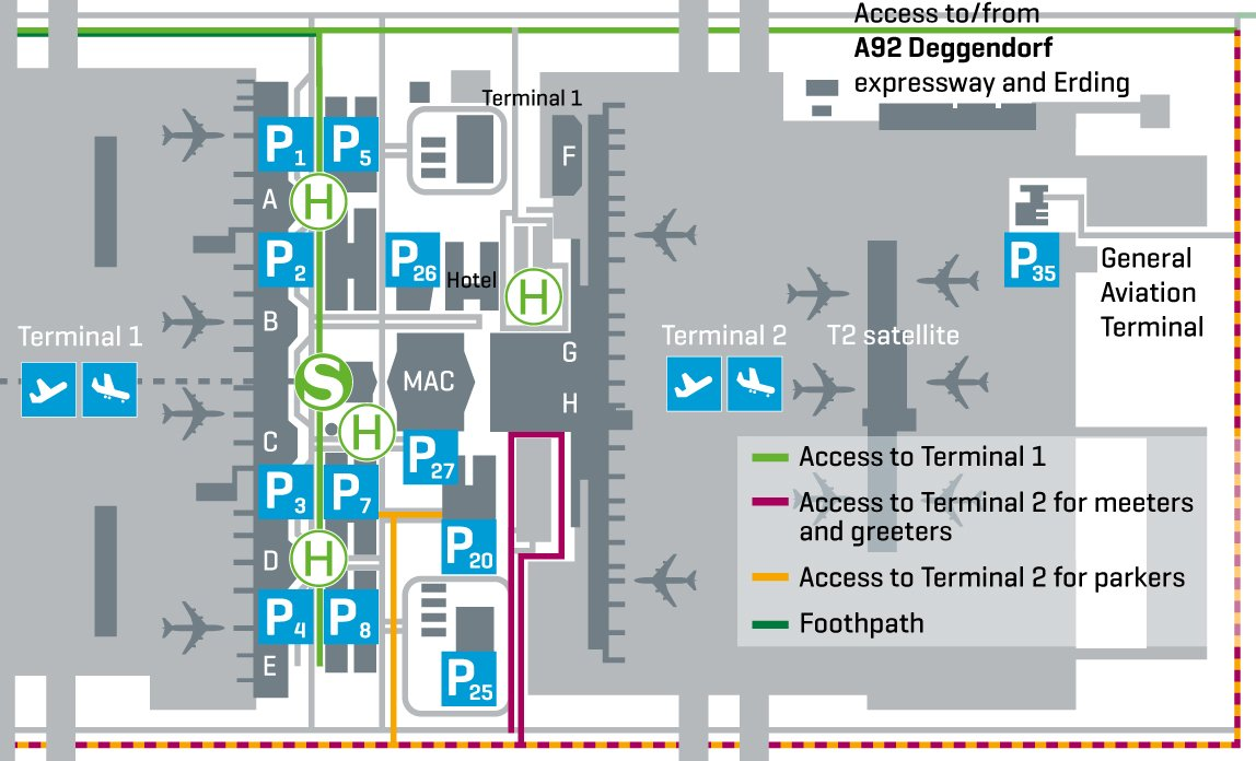 Map Of Munich Airport Terminal 2 Shopping At Munich Airport | Bragmybag