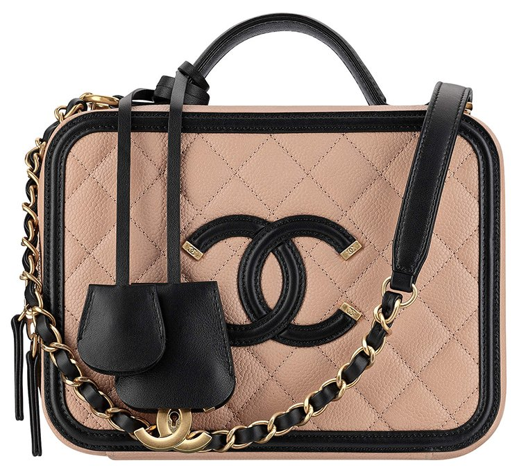 15308fba6bf16d Chanel CC Filigree Vanity Case. Chanel-CC-Filigree-Bag-Review-5