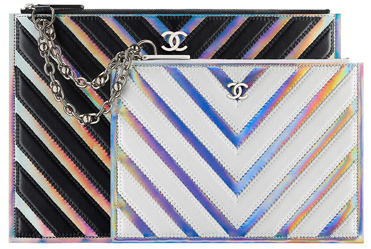 Chanel-Multicolor-Chevron-Double-Pouch