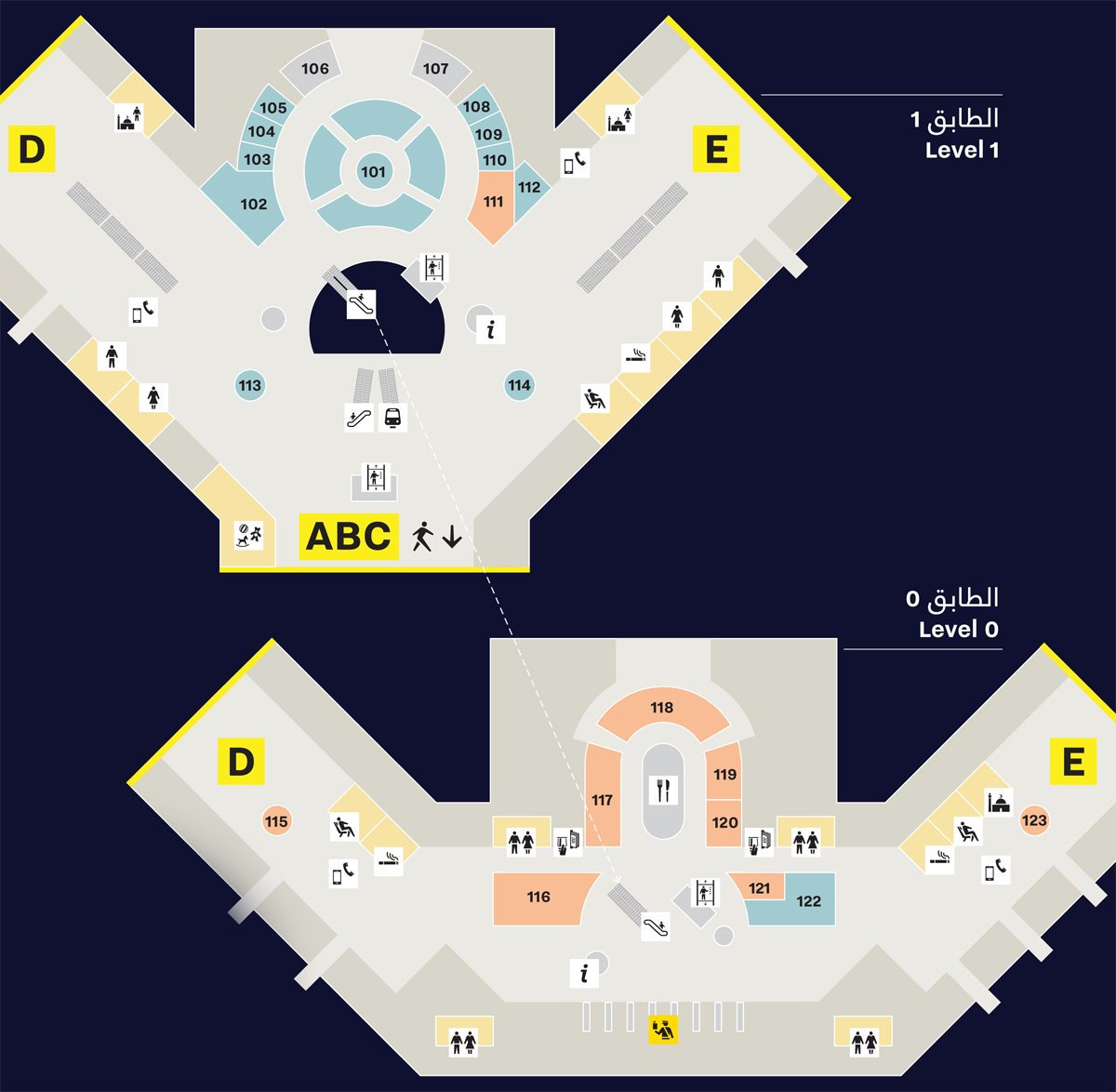Shopping-at-hamad-international-airport-departure-duty-free-map-3