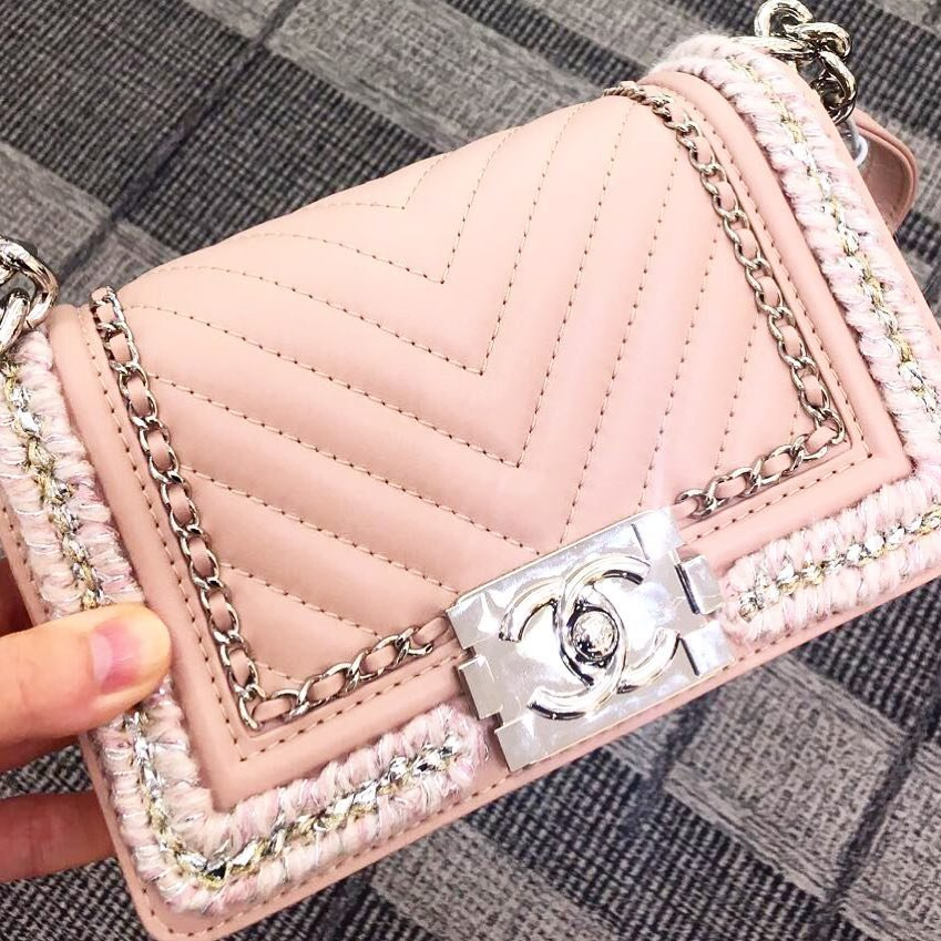 Chanel-Boy-Chevron-Tweed-Chain-Around-Flap-Bag
