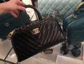 Chanel Chevron Quilted Tote