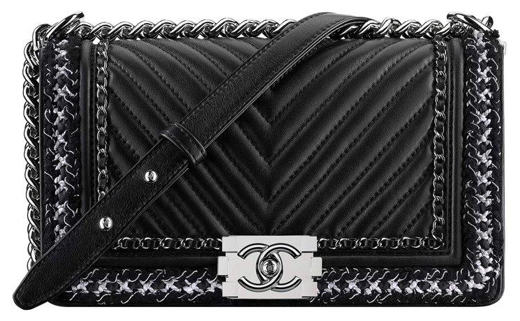 Chanel-Boy-Chevron-Braid-Around-Chain-Flap-Bag-4
