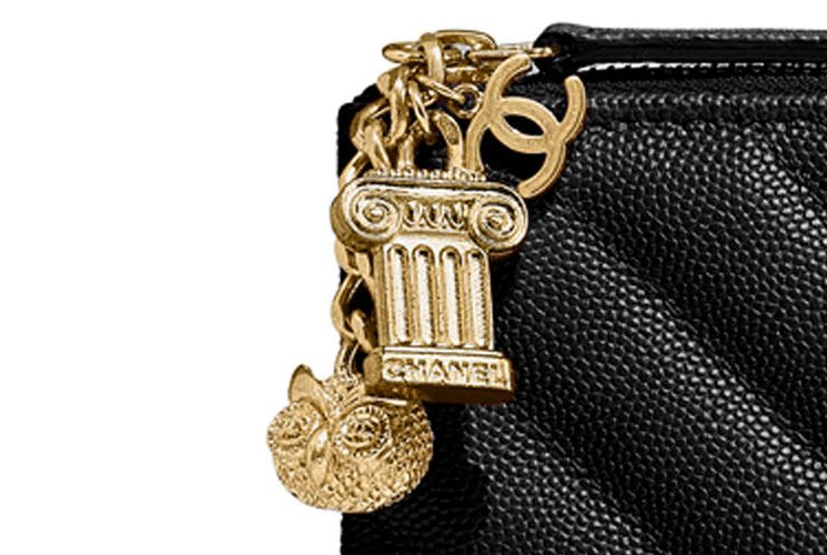 344eb1440b4e91 Chanel Chevron O Case with Ancient Greek Charm | Bragmybag