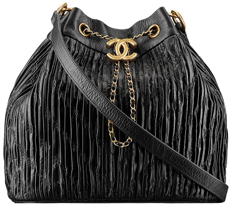 8052d8e9c8a3 Chanel-Cruise-2017-18-Collection-4. Chanel Coco Pleats Drawstring Bag