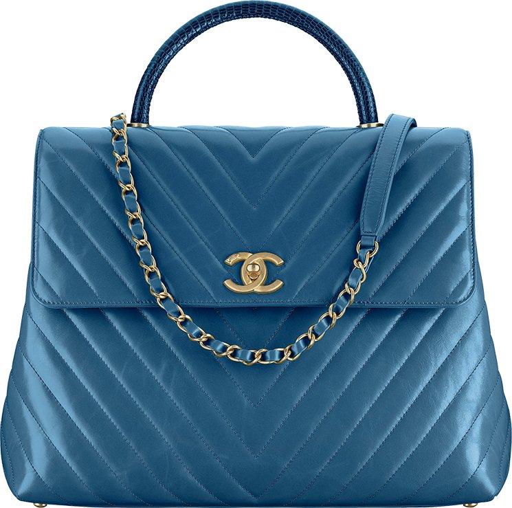 35eeebe1f662 Chanel Chevron Coco Handle Bag. Chanel-Cruise-2017-18-Collection-80