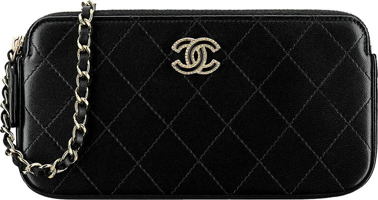 Chanel-Flat-Quilted-Clutch-with-Chain