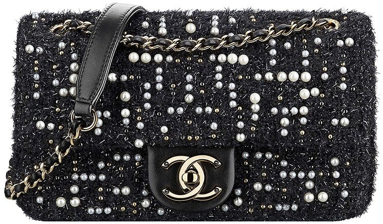 Chanel-Tweed-Cosmos-Pearl-Flap-Bag-3
