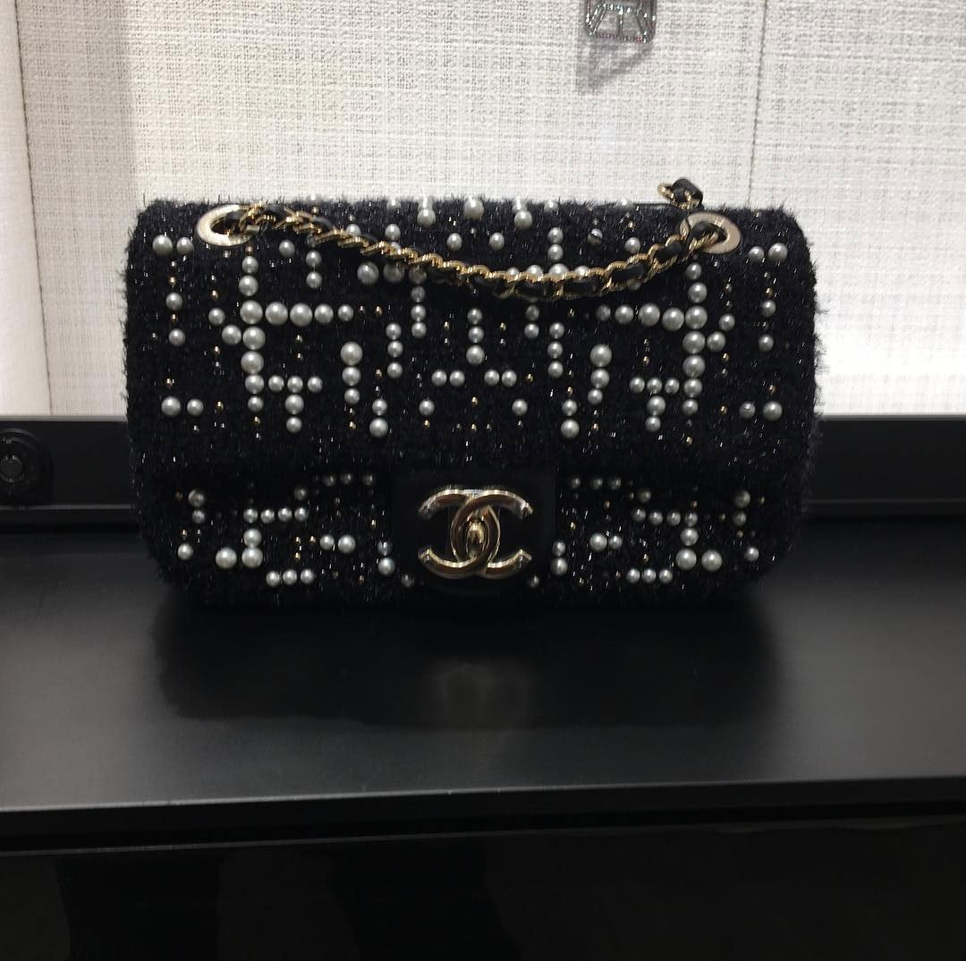 Chanel-Tweed-Cosmos-Pearl-Flap-Bag-5