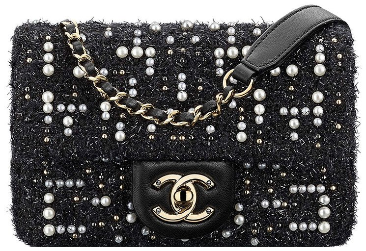Chanel-Tweed-Cosmos-Pearl-Flap-Bag