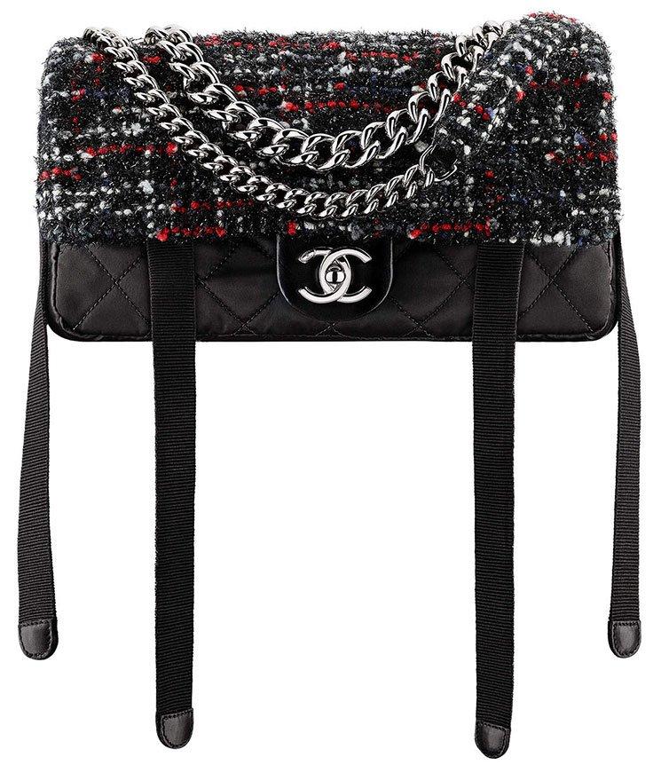 8400114290bd Chanel Tweed Nylon Astronaut Essentials Flap Bag | Bragmybag