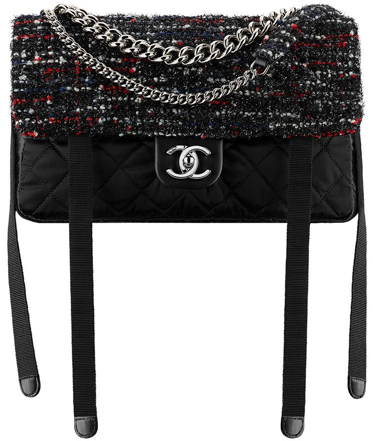 Chanel-Tweed-Nylon-Astronaut-Essentials-Flap-Bag