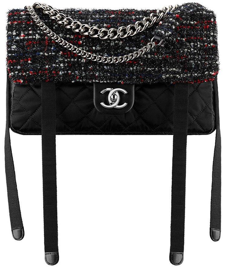Chanel-Tweed-Nylon-Astronaut-Essentials-Flap-Bag