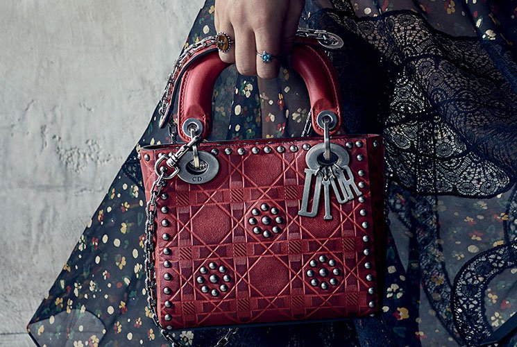 1f9ee3db5d1 Dior Cruise 2018 Ad Caign Featuring Studded Mini Lady Bag