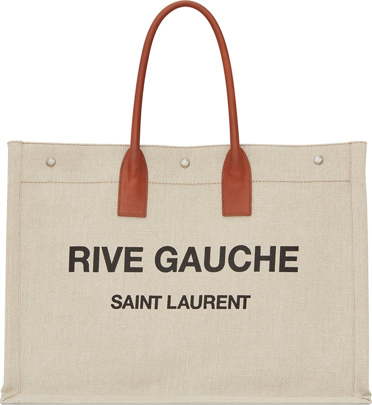 Saint-Laurent-Linen-Rive-Gauche-Bag