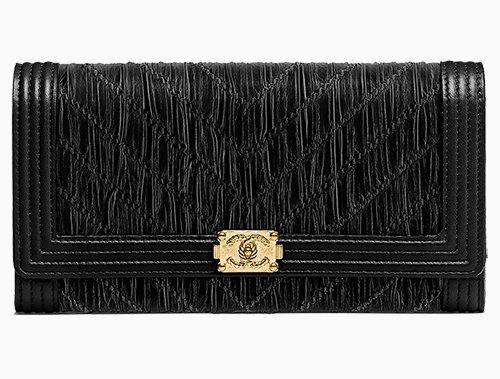 e861c332f Chanel Chevron Pleated Crumpled Boy Wallet · BAGS ...