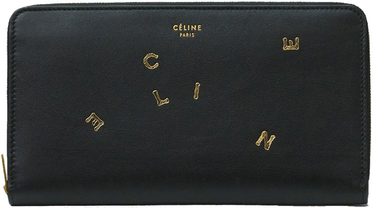 Celine-Alphabet-Large-Zipped-Multifunction-Wallets