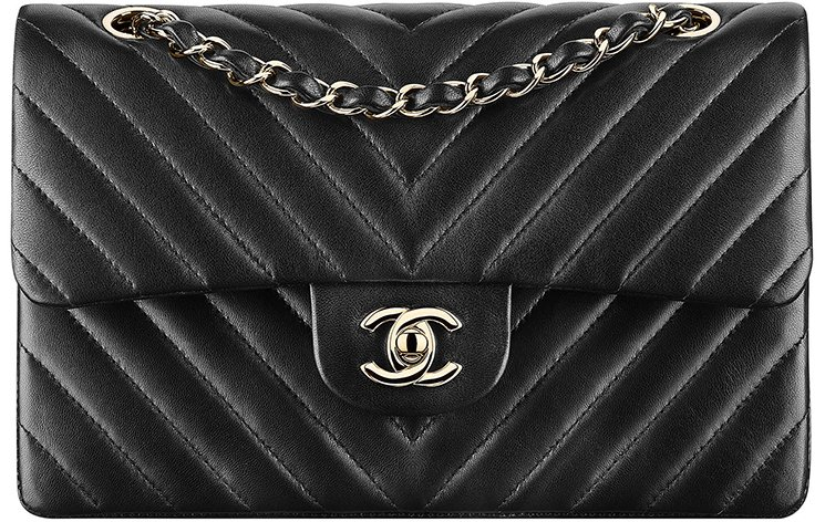 ad2bacd1bdcc Chanel Chevron Small Classic Flap Bag