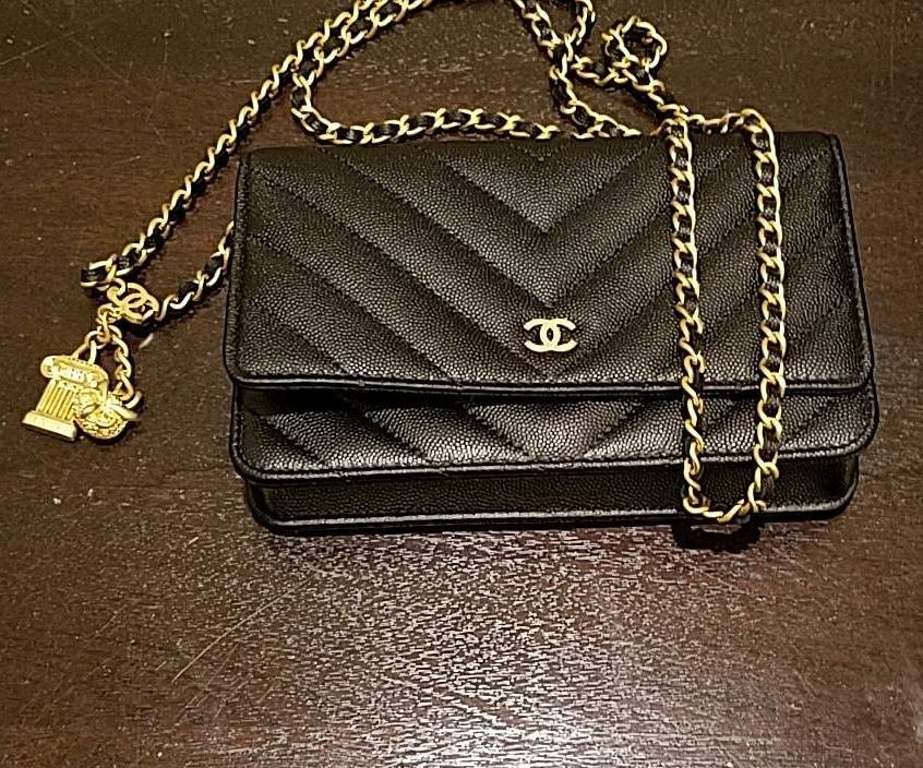 Chanel Chevron Classic Quilted WOC with Ancient Greek Charm - Bragmybag f9bdd7a8da06d